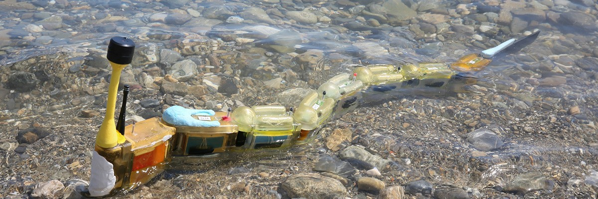 뱀장어를 닮은 수질오염 지킴이 '엔비로봇'