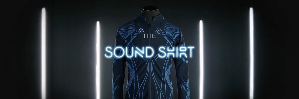 음악을 피부로 느끼게 해주는 옷 '사운드셔츠'