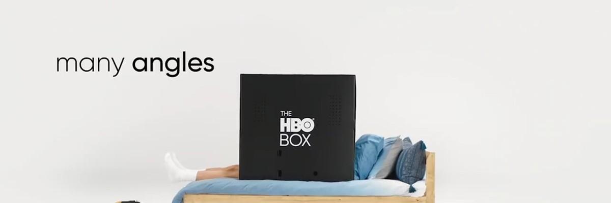골판지로 만든 1인용 영화관 'HBO BOX'