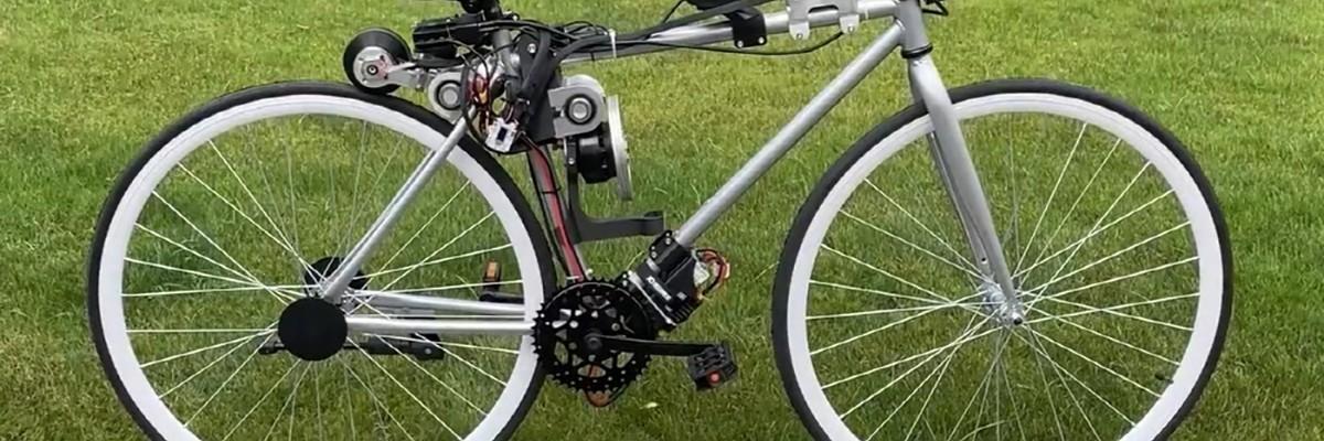 넘어지지 않고 스스로 달리는 '자율주행 자전거'